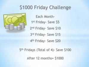 $1000 Friday Challenge