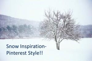 Snow Inspiration- Pinterest Style!!
